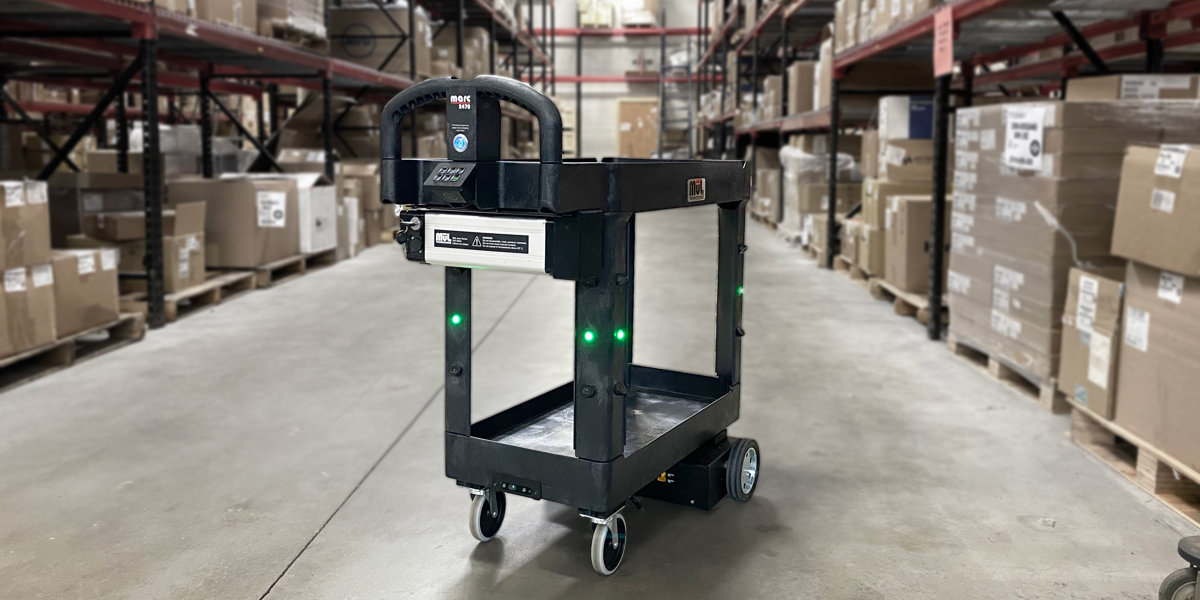 MuL robotic cart in a warehouse